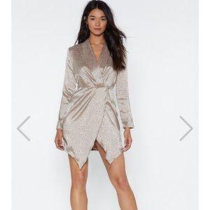 Dresses & Skirts - ❌Sold❌Nasty Gal Leopard Nude Dress
